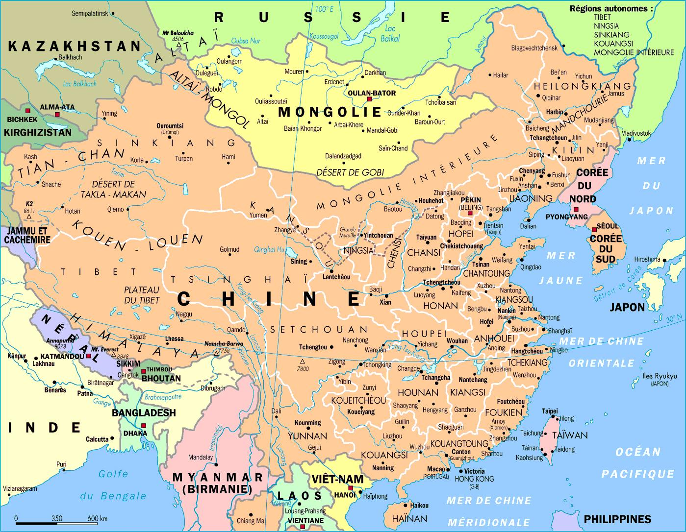 Cina Hd Peta Asia Timur Gambar Negara