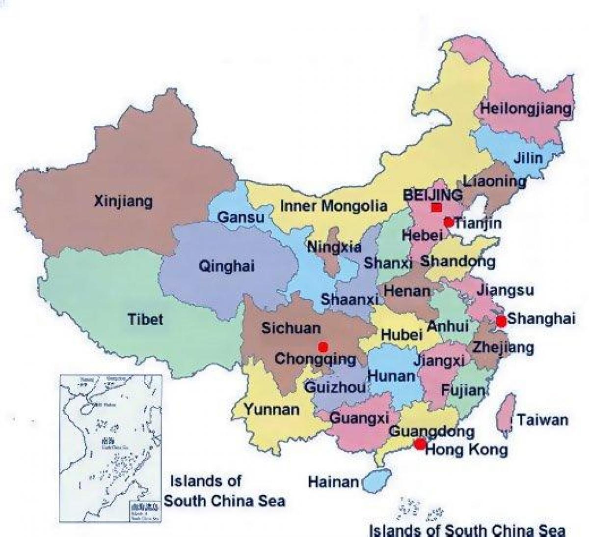 Cina Gambar Peta Asia Timur China Negara